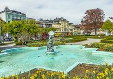 Staty gnomen i Gmunden, Österrike Arkivfoton