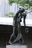 Staty i Central Park Royaltyfri Fotografi