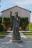 Staty i den Citeaux abbotskloster Royaltyfri Fotografi