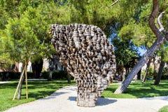 staty i den offentliga trädgården på Venedig, Italien Royaltyfri Fotografi