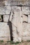 Staty i den romerska marknadsplatsen Athens Arkivfoton