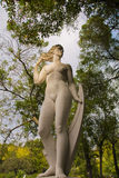 Staty i Estufa Fria Arkivbild