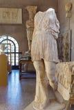 Staty i ett museum av forntida Corinth Royaltyfri Fotografi