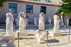 Staty i museum av forntida Corinth Fotografering för Bildbyråer