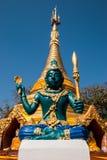 Staty i Phrathat San Hai Royaltyfria Bilder