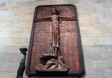 Staty i St Vitus Cathedral - Prague arkivfoto