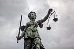 Staty Justitia Arkivfoto
