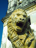 staty Lion Cathedral av Leon Nicaragua Central America Arkivfoton