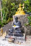 Staty nära den stora Buddhamonumentet, Phuket, Thailand Fotografering för Bildbyråer