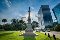 Staty och moderna byggnader i Columbia, South Carolina Arkivbild
