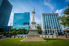 Staty och moderna byggnader i Columbia, South Carolina Arkivfoto