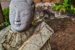 Staty på den buddistiska templet i bangkok Arkivfoto