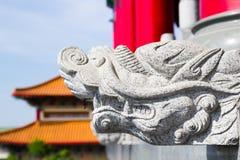 Staty på den Leng Noei Yi 2 templet Arkivbilder