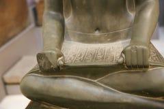 Staty på det egyptiska museet Egypten Royaltyfria Bilder