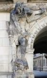 Staty på Dresden Georgentor Royaltyfria Bilder