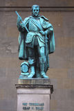 Staty på Feldherrnhallen, Munich, Tyskland Arkivfoto