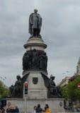 Staty på huvudet av den O'Connell gatan Dublin Ireland Arkivfoton