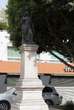 Staty på kolonn i av av hjältarna Leà ³ n Guanajuato arkivfoton