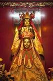 Staty på mannen Mo Temple, Hong Kong Island Arkivfoto