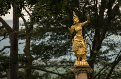 Staty på Portmeirion Arkivbilder