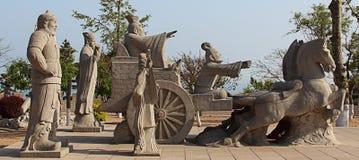 Staty på sjösidan av ChengShanTou Arkivfoton