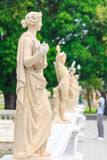 Staty på smällPA i slott Arkivfoto