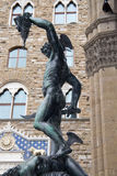Staty Perseus i Florence Arkivfoto