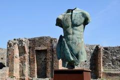 Staty Pompeii arkeologisk plats, nr Mount Vesuvius, Italien Arkivfoton