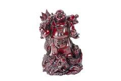 Staty som skrattar Buddha - Budai eller Hotei isolerad gladlynt munk Royaltyfria Bilder