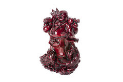Staty som skrattar Buddha - Budai eller Hotei isolerad gladlynt munk Fotografering för Bildbyråer