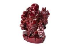 Staty som skrattar Buddha - Budai eller Hotei isolerad gladlynt munk Arkivbilder