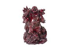Staty som skrattar Buddha - Budai eller Hotei isolerad gladlynt munk Royaltyfri Foto