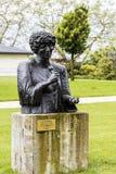 Staty till Ella Fitzgerald i Montreux Arkivfoton