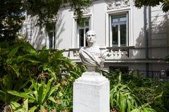 Staty till Massena i Nice, Frankrike Arkivbilder