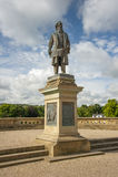 Staty till Sir Titus Salt, i Saltaire Arkivfoto