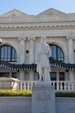 Staty utanför den fackliga stationen, Worcester, Massachusetts Royaltyfria Foton