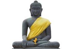 Statybuddha isolat Arkivfoto