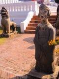 StatyChantharakasem nationellt museum Arkivfoton