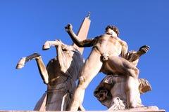 Statyer av den Quirinal slotten Rome Italien Royaltyfri Bild