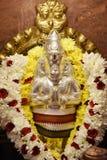 Statyer av hinduiska gudar royaltyfria foton