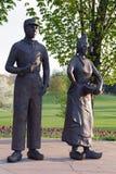 Statyer av holländska par Royaltyfri Fotografi