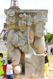 Statyer av Paris Arkivfoton