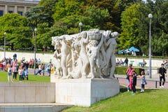 Statyer av Paris Arkivbild
