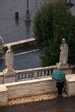 Statyer av piazza del popolo, Rome Royaltyfria Bilder
