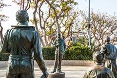 Statyer av USA-militär personal och Bob Hope Arkivbilder