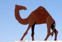 statyer för kamelisrael negev Arkivbild