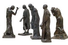 statyer för rodin s Arkivfoton