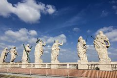 Statyer för tak för domkyrka för St Peter ` s arkivbild