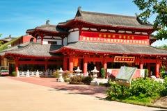 Statyer för tempel 33 av Guanyin i Nanshan parkerar Sanya Hainan arkivbilder