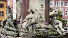 Statyer i Heidelberg Royaltyfria Bilder